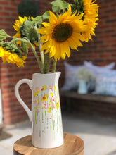 Hand-Painted Tall 'Daffodils' Vase/Jug
