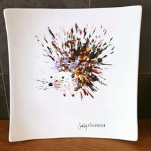 Hand-Painted Square Plate - Hedgehog