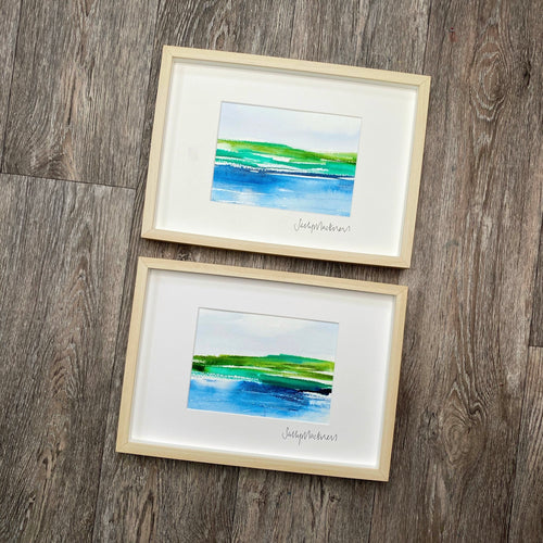 'Morning Light' - two framed paintings