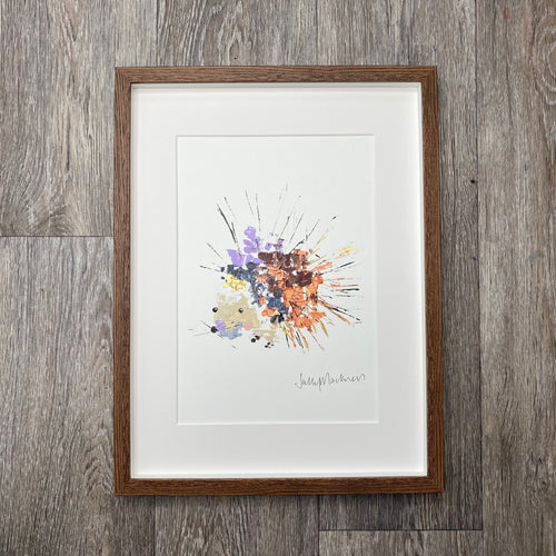 'Hedgehog' - large, framed