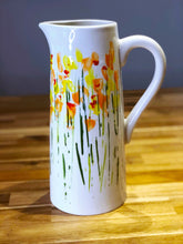 Hand-Painted Tall 'Daffodils' Vase/Jug - Sally Mackness