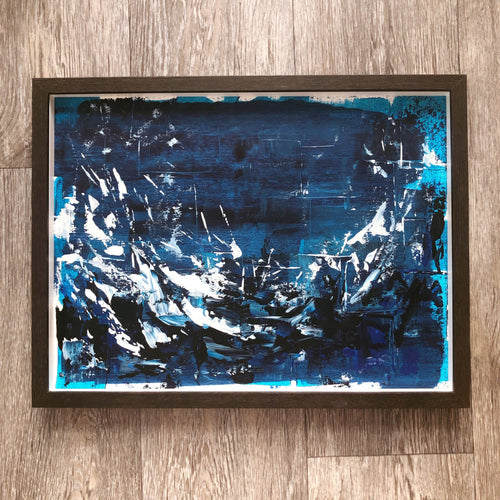 'Ocean Swell' - framed, original painting - Sally Mackness