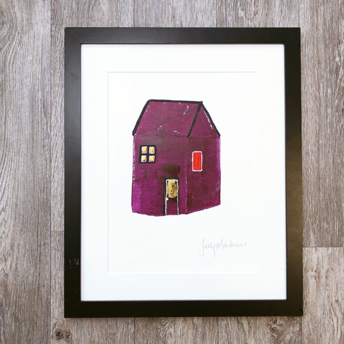'The Red House ' - original art on paper - Sally Mackness