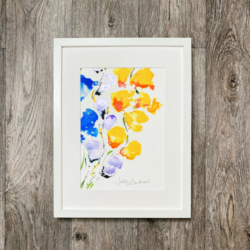 Summer Bloom #4 - white frame