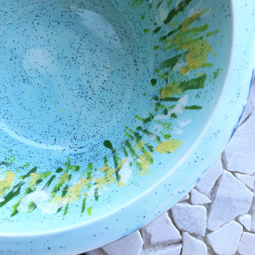 Hand-Painted Large Bowl - Meadow