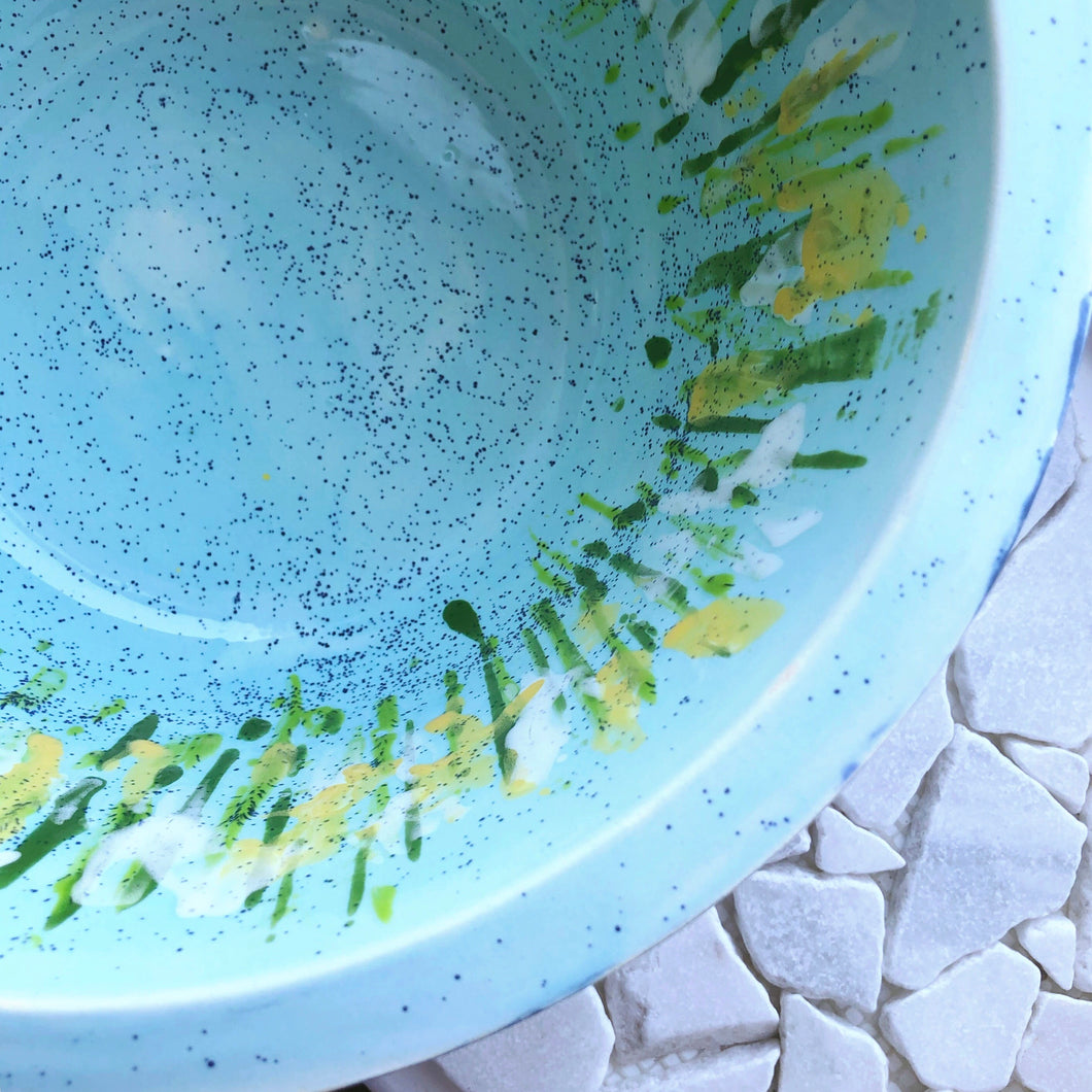 Hand-Painted Large Bowl - Meadow - Sally Mackness