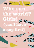 Who Run The World? Girls! A6 Notebook