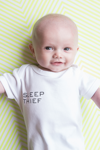 Sleep Thief Short Sleeve Bodysuit White