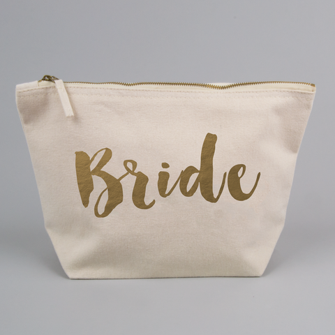 Personalised Reverse Gold Foiled Bride Bag