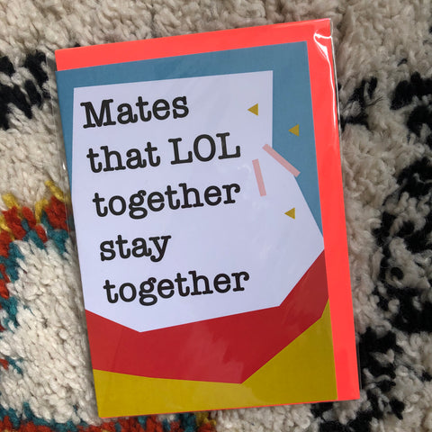 Mates Birthday Card