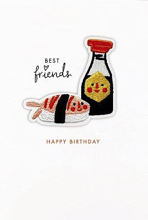 Best Friends Sushi Patch Card