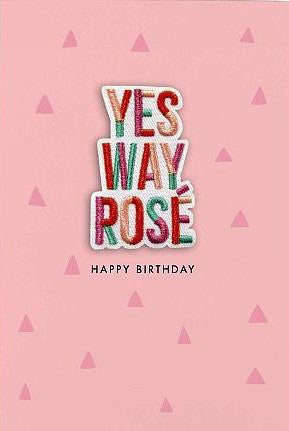 Yes Way Rose Patch Card