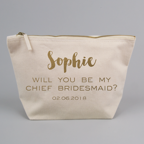 Personalised Will You Be My Bridesmaid/ Maid of Honour/ Flower Girl