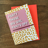 Party Pants Card