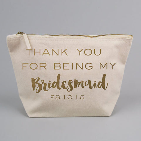 Personalised Thank You For being My Bridesmaid/ Maid of Honour/ Flower Girl