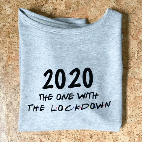 2020 The One With The Lockdown Oversized Sweater Grey