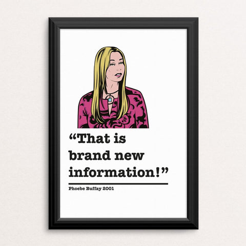 Friends Phoebe Buffay Art Print 2