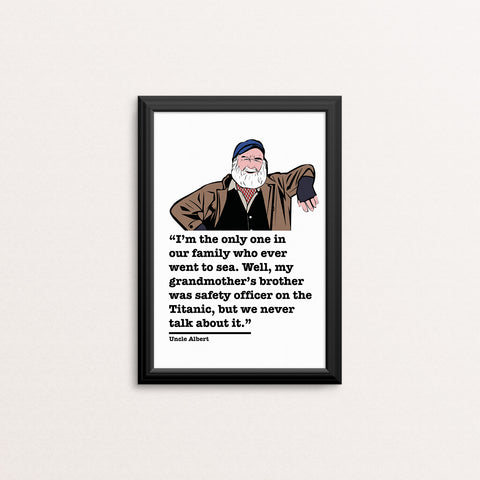 Only Fools and Horses Uncle Albert Art Print 2