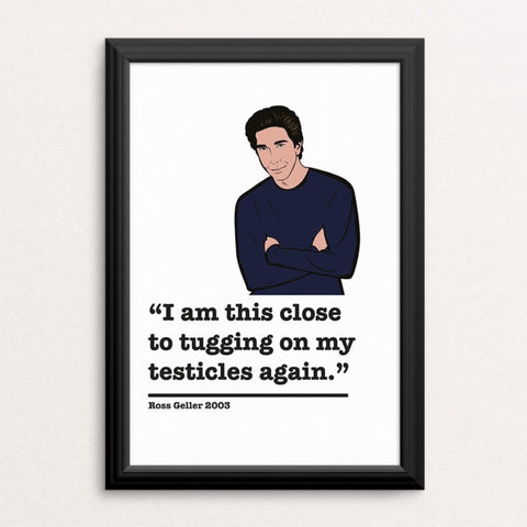 Friends Ross Geller Art Print 2