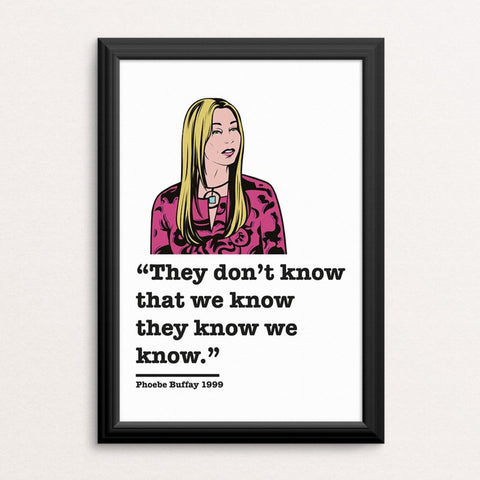 Friends Phoebe Buffay Art Print 1