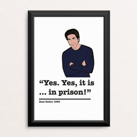 Friends Ross Geller Art Print 1