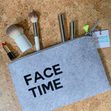 Face Time Felt Pouch