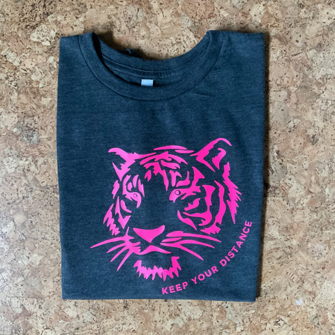 Charcoal Neon Tiger Muscle T-Shirt