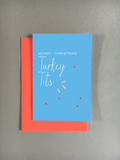 Turkey Tits Christmas Card