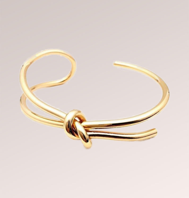 Knotted Cuff Plated Bracelet