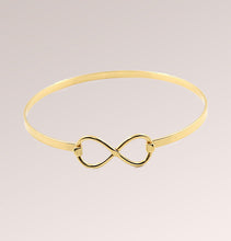 Infinity Stainless Steel Bangle Bracelet