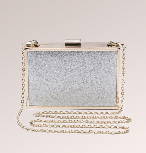 Glitter Hard Frame Clutch and Shoulder Bag