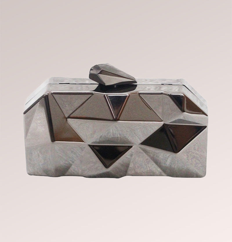 Three Dimension Metal Clutch Bag