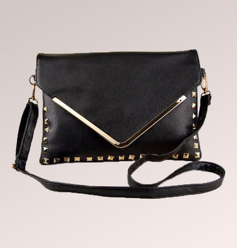 Leather Studded Envelope Bag