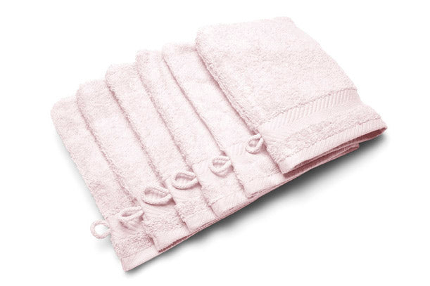 Royal touch - Rose - Set van 6 washandjes (16 x 22 cm)