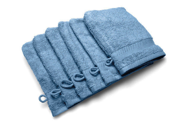 Royal touch - Jeans - Set van 6 washandjes (16 x 22 cm)