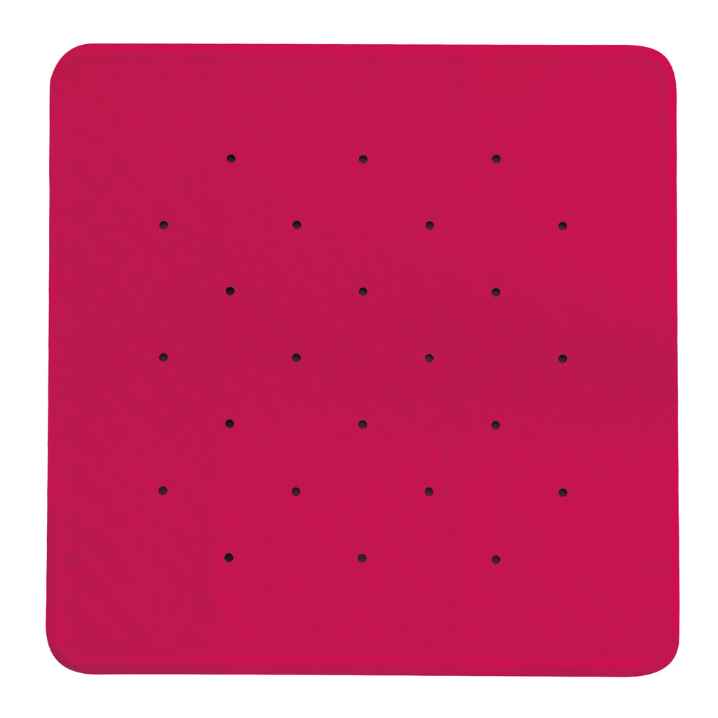 anti slip mat voor bad of douche met zuignappen in roze