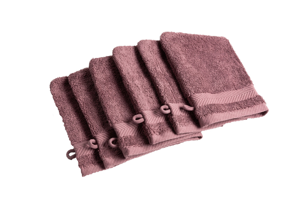 Royal touch - Figue - Set van 6 washandjes (16 x 22 cm)