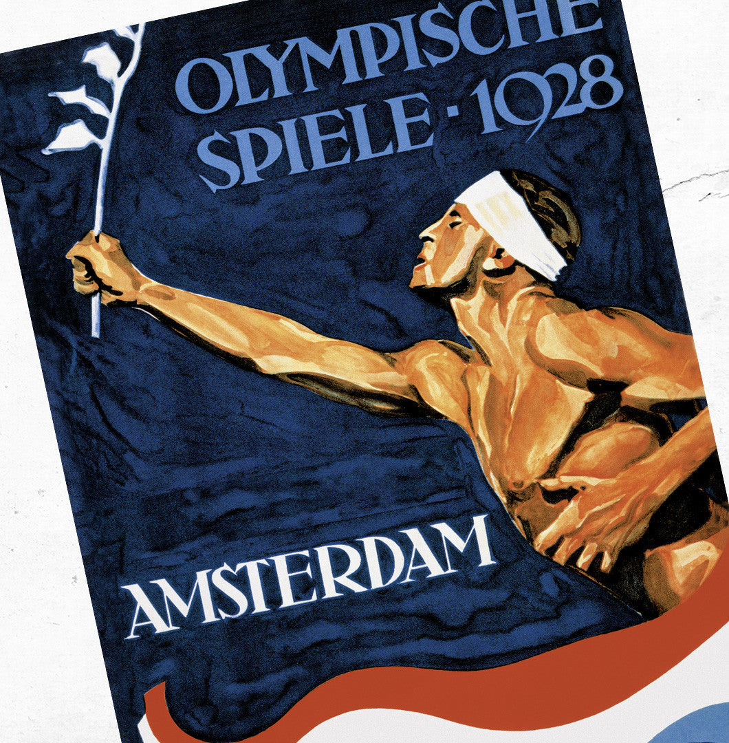 Amsterdam 1928 Olympic Games Official Poster