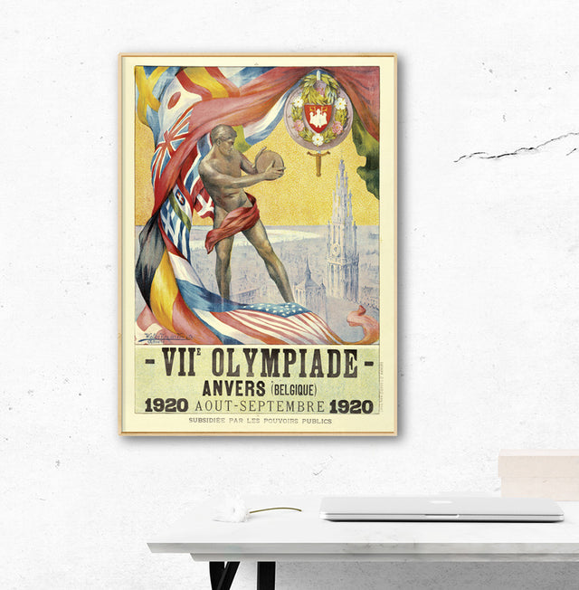 Anvers 1920 Olympic Games Official Poster