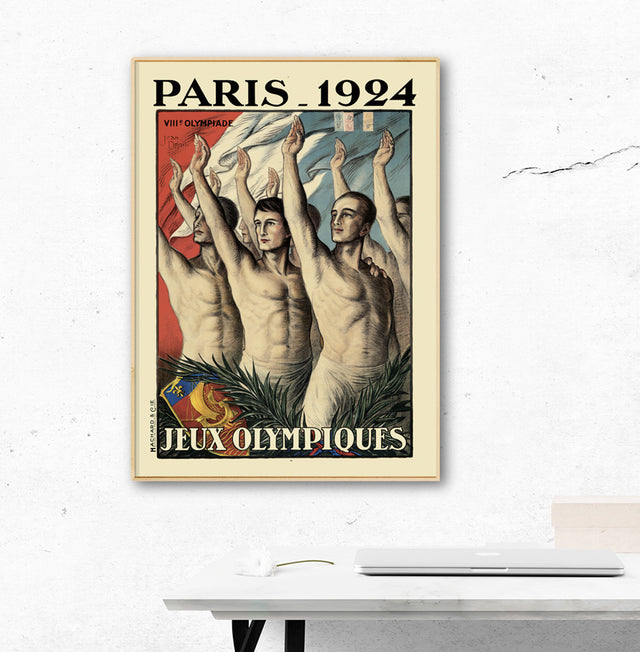Paris 1924 Olympic Games Official Poster