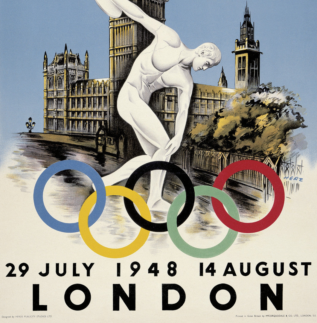 London 1948 Olympic Games Official Poster