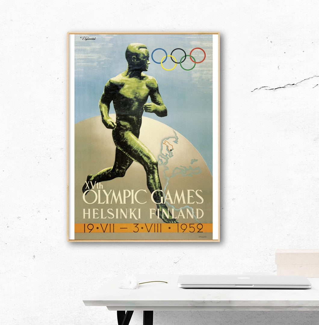 Helsinki 1952 Olympic Games Official Poster