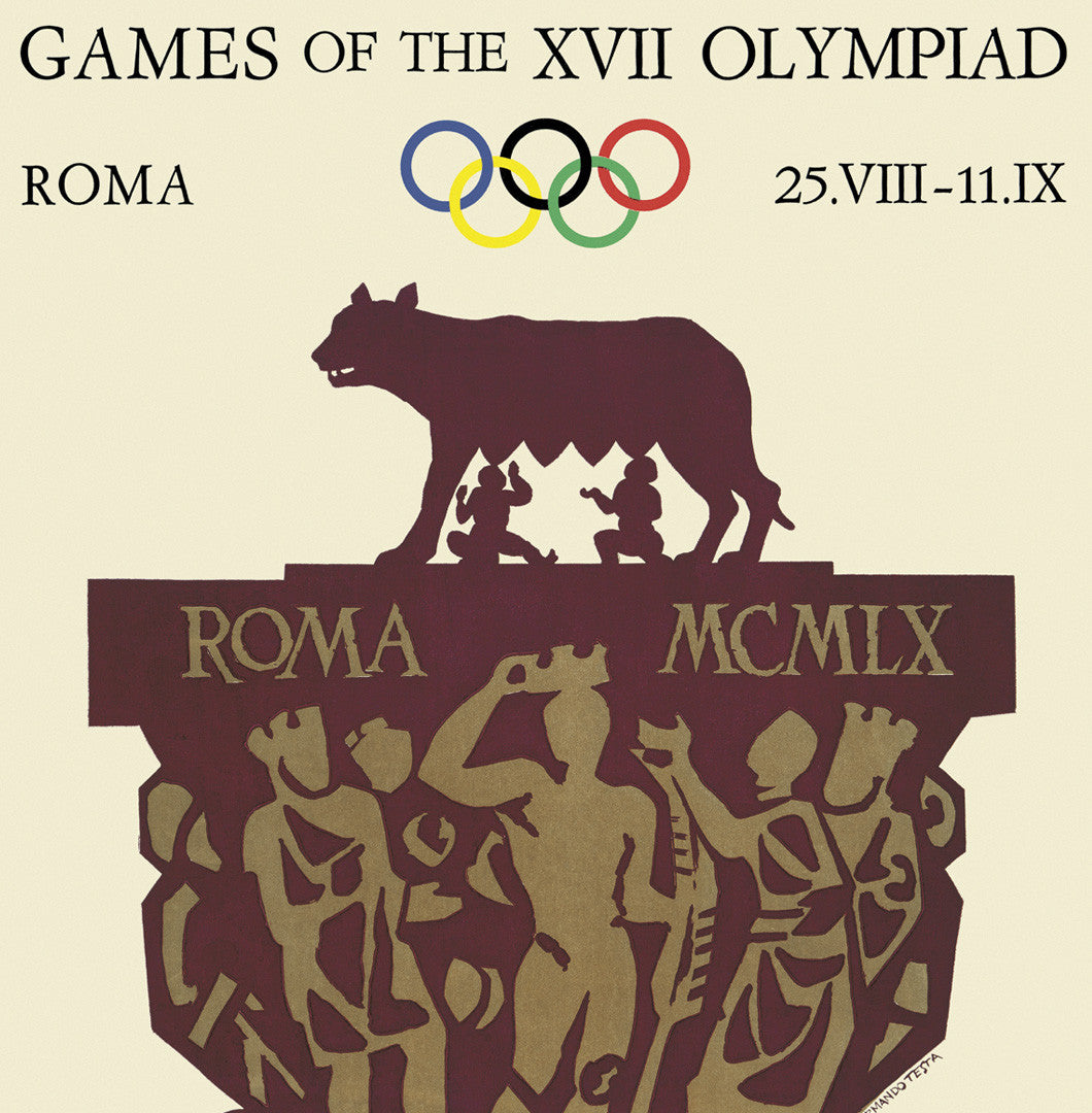 Rome 1960 Olympic Games Official Poster