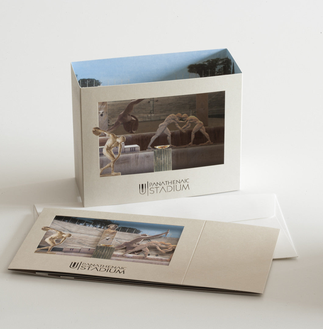 Panathenaic Stadium 3D Pop Up Paper Card