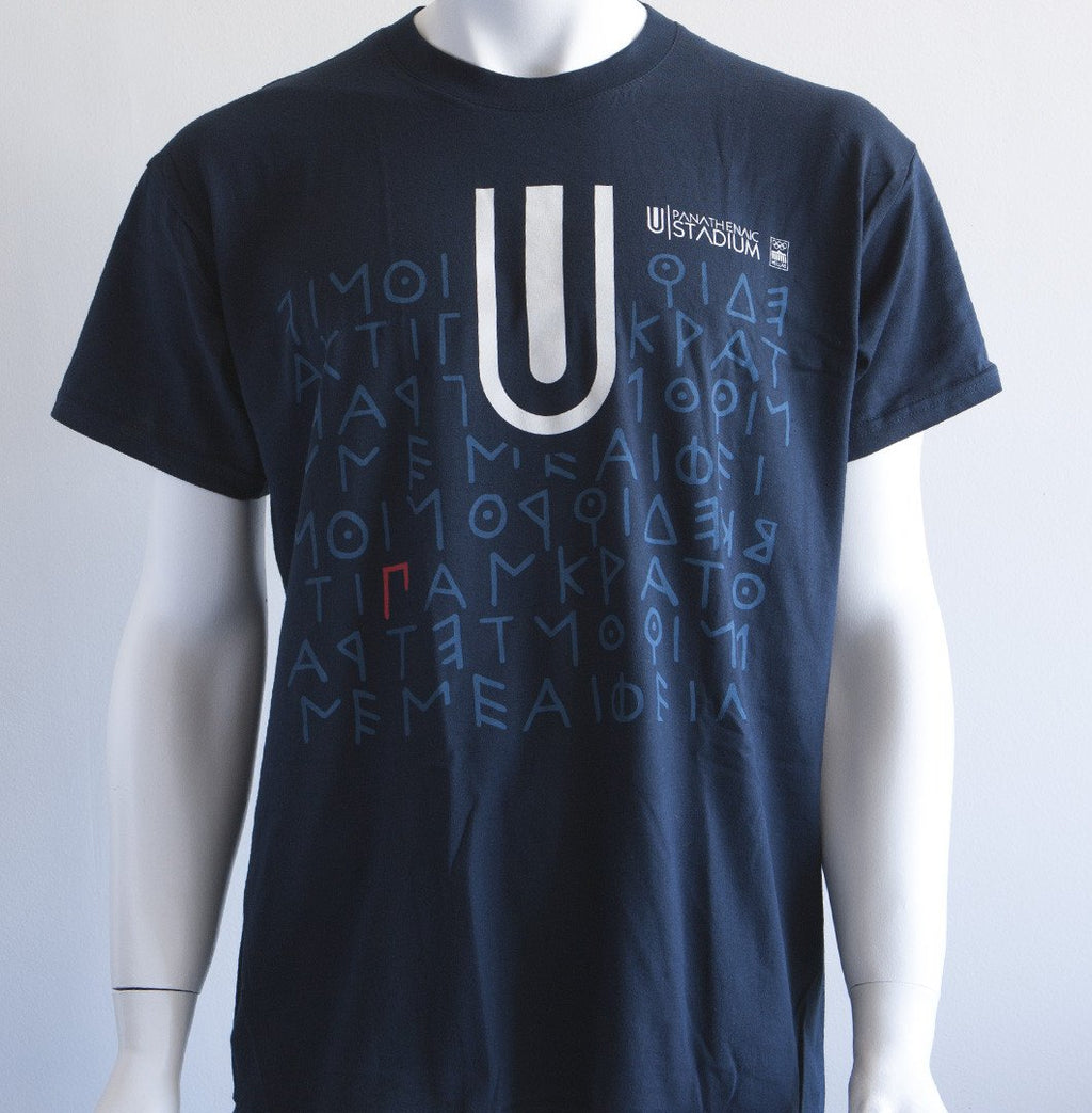 Panathenaic Stadium Official T-shirt Blue Collection - Logo
