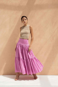 To-gather skirt in Mulberry