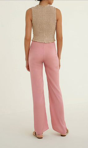 Knotted pants in Rose