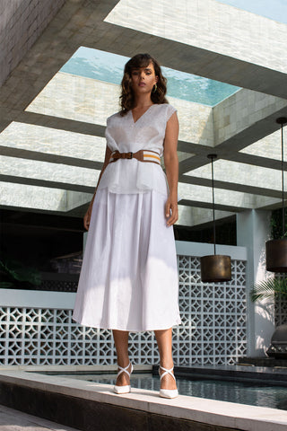 High Waist Cotton Skirt