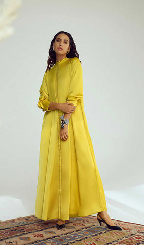 A-line Moroccan Silk Dress