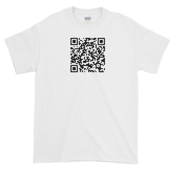 Avatar Meher Baba ki jai QR (plain) - 100% Cotton T-shirt - 6 oz Classic Fit, Thick Jersey Knit-White-S-Boundless Creations
